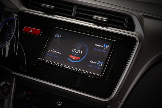 Honda City built-in navigation system