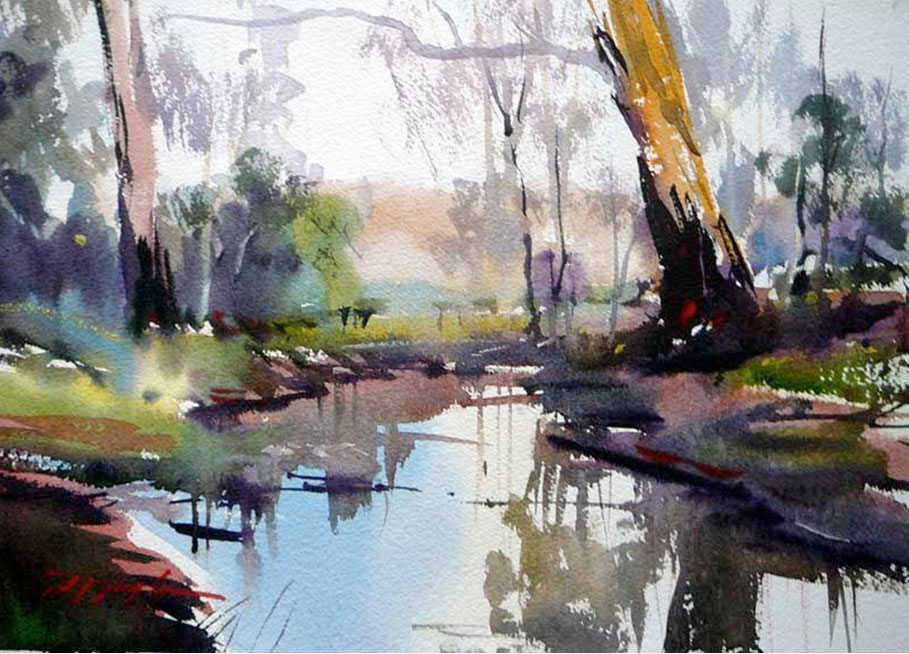 Art of watercolor david taylor interview for Australian mural artists