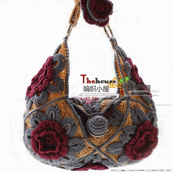 Crochet Bag Chart : Outstanding Crochet: Interesting Crochet Bag. Charts.