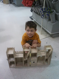 Wooden Unfinished Fold Up Castle