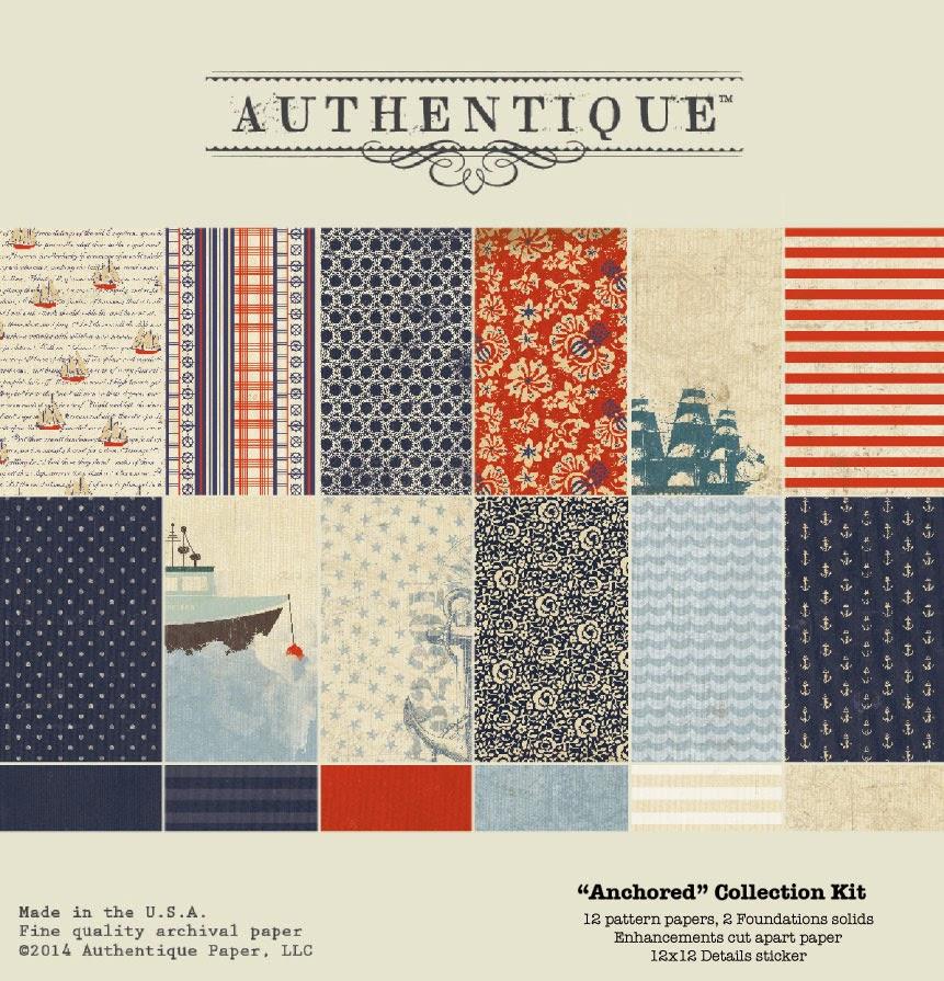 Authentique Anchored Details 12x12 Sticker Sheet