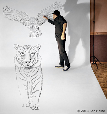 Lukisan 3D Hitam Putih Paling Menakjubkan