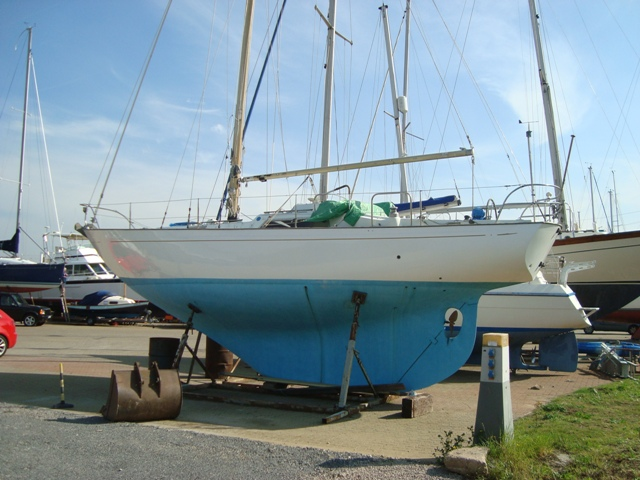 He renovated the yacht, including repairing a hole in her hull.