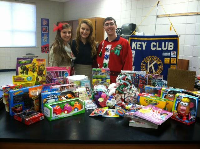 Montgomery Catholic Club Sends Gifts to Children's Hospital Sugar Plum Shop 1