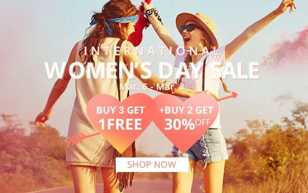 Zaful women's day 2018