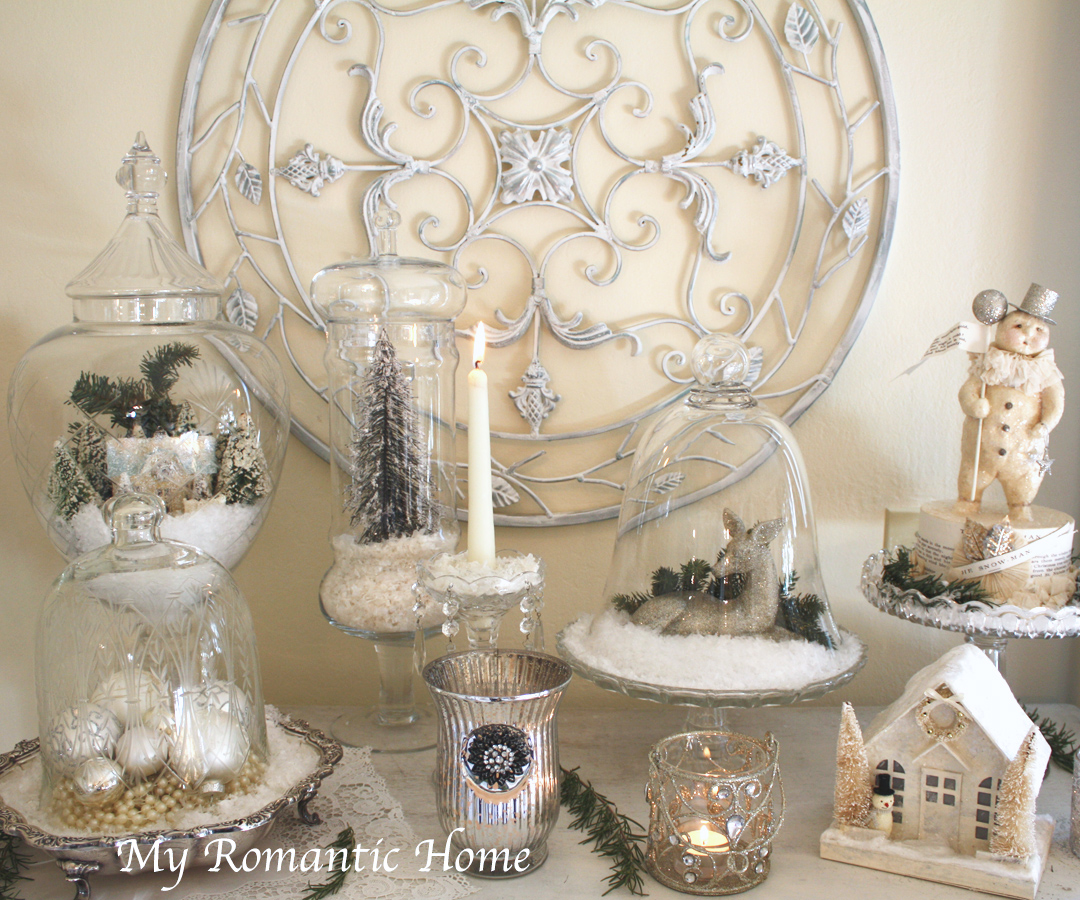 My romantic home christmas decor galore show and tell for Home decorations for christmas