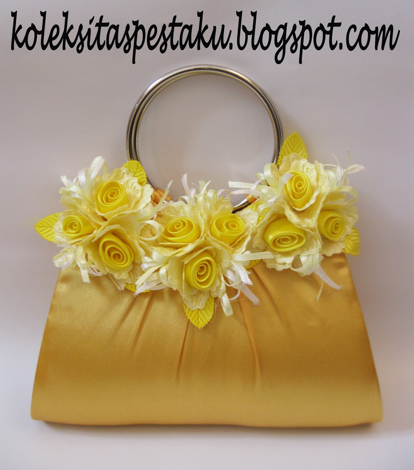 Tas Pesta Bunga Kuning Cantik
