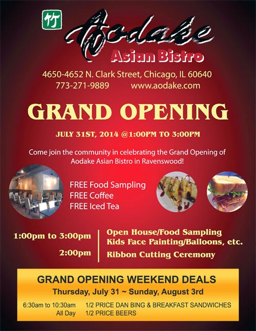 Uptown Update: Grand Opening For Aodoke Asian Bistro On ...