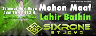 Banner Idul Fitri 1433 H SixroneStudyo