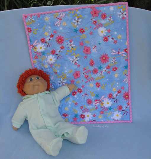 Practise your FMQ by making a Doll Quilt ~ Threading My Way
