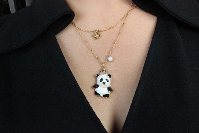 Betsey Johnson Panda Necklace