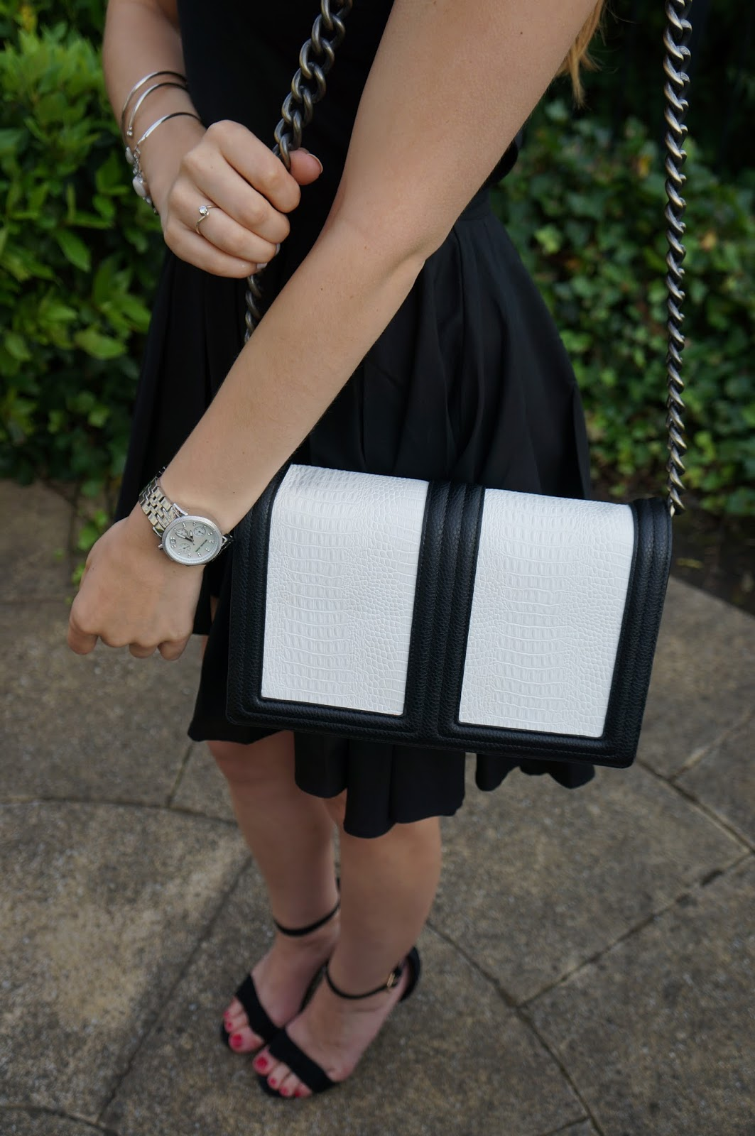 beautiful monochrome accessories to compliment a black dress