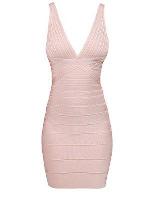 Rose Blush Bandage Dress