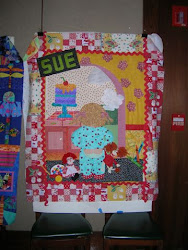 Sue Cresse's story quilt from Workshop