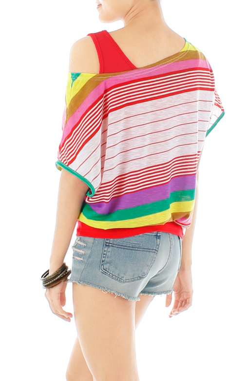 Slouchy Rainbow Two-piece Top