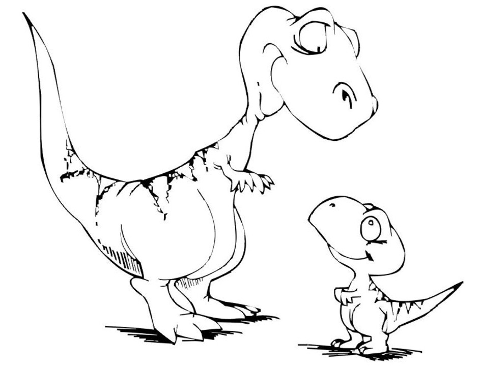 Dinosaur Coloring Pages Free