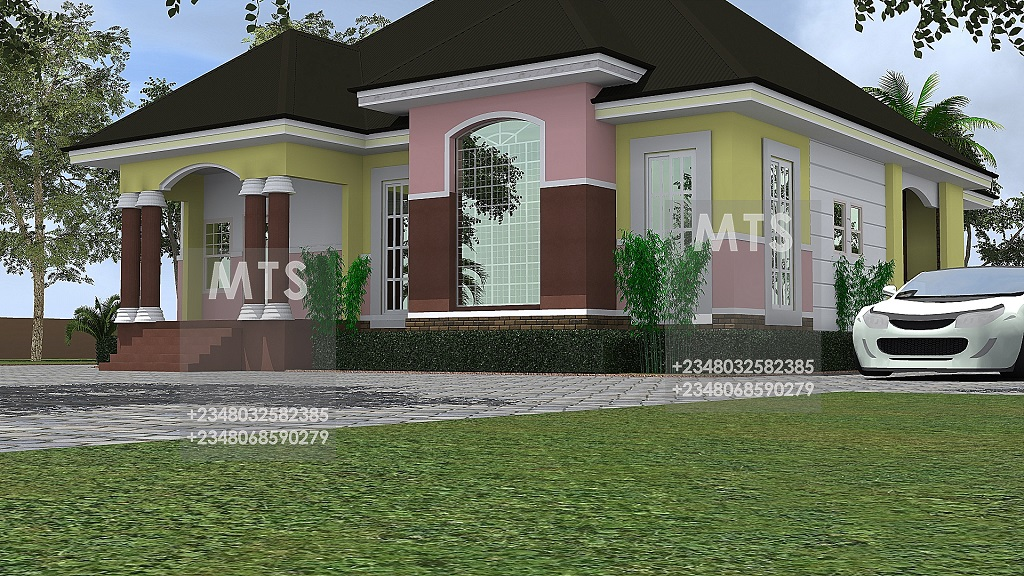 Mr azeez 4 bedroom bungalow residential homes and public for Bungalow show homes