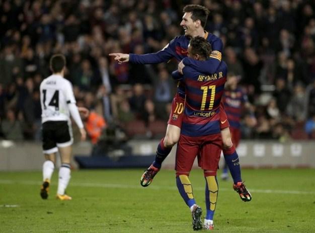 Barcelona vs Valencia score 7-0 Copa del Rey 2016