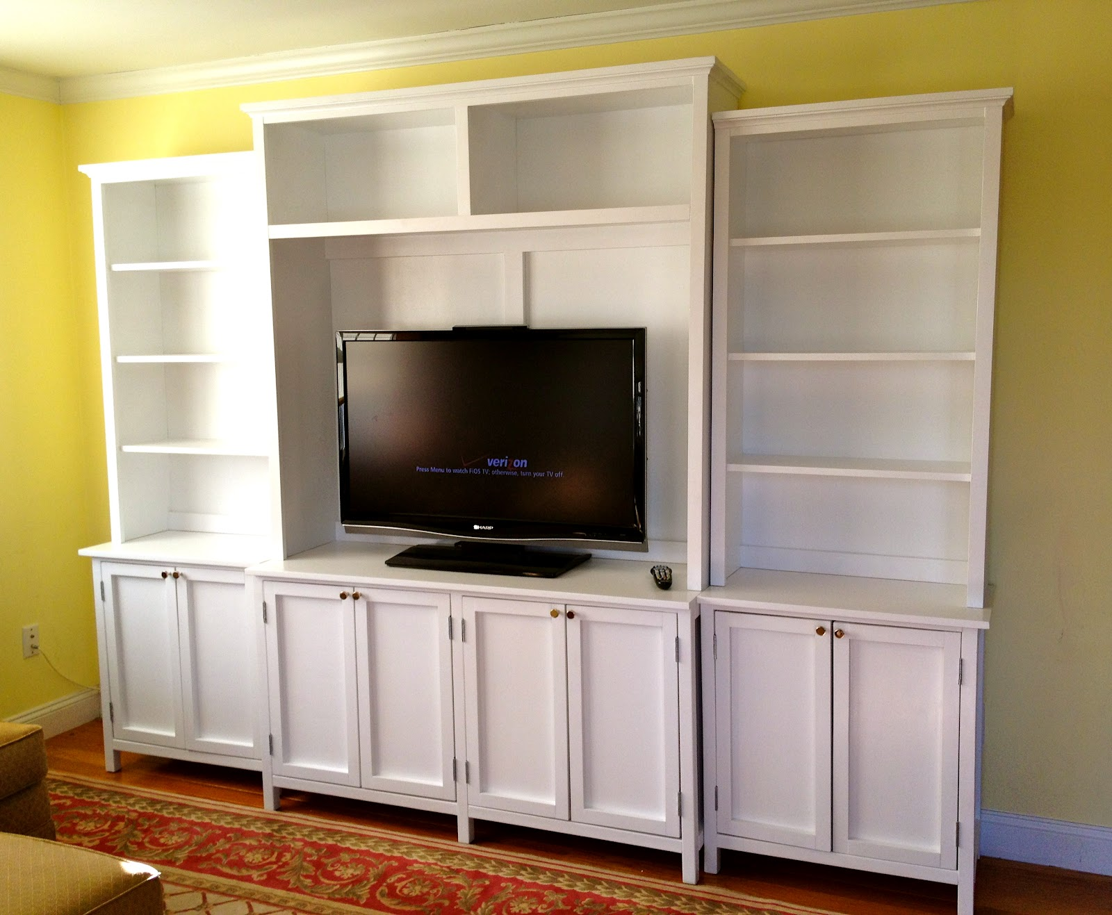 Diy media cabinet with doors shelves jaime costiglio diy media cabinet with doors shelves solutioingenieria Choice Image