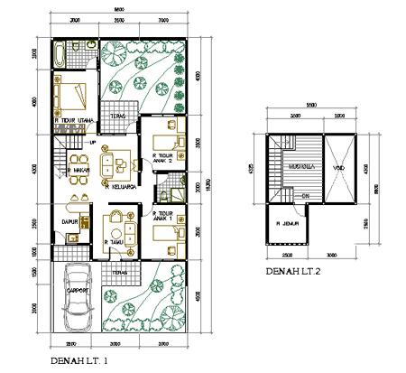 gambar desain / model rumah minimalis disertai denah