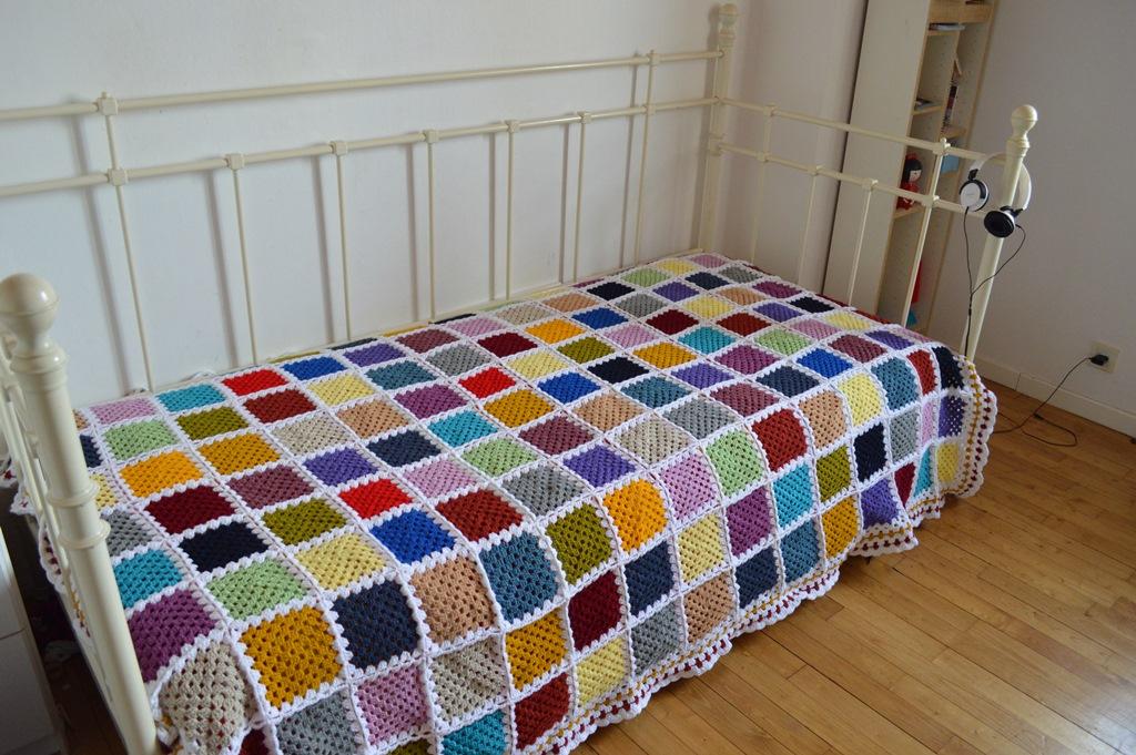 Como hacer grannys y mi nueva manta de ganchillo elenarte - Como hacer una manta de lana para el sofa ...