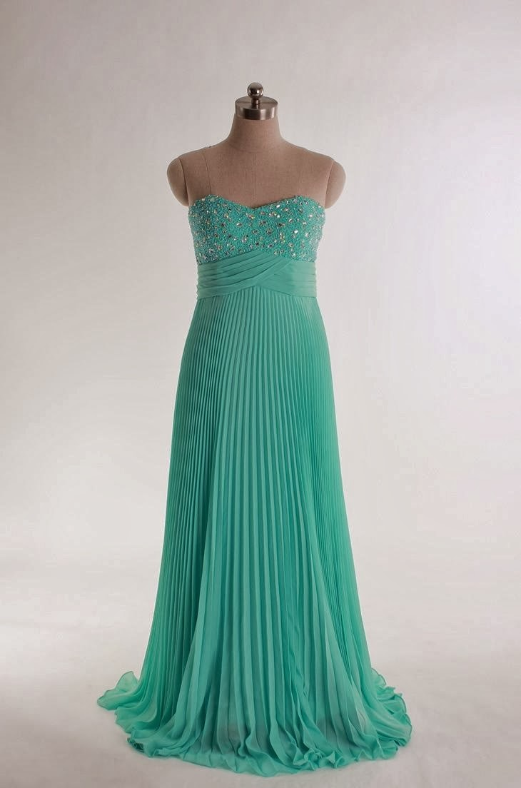 Amazing Long Prom Dress, Sweetheart Beading Bodice A-line Chiffon Gown