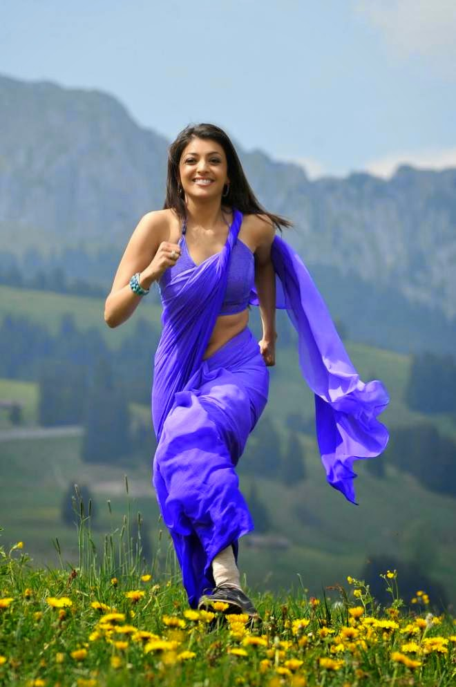 10 Hot Kajal Agarwal Navel Show In Low Waist Saree Pics