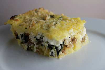 Baked Polenta with Chard and Sausage