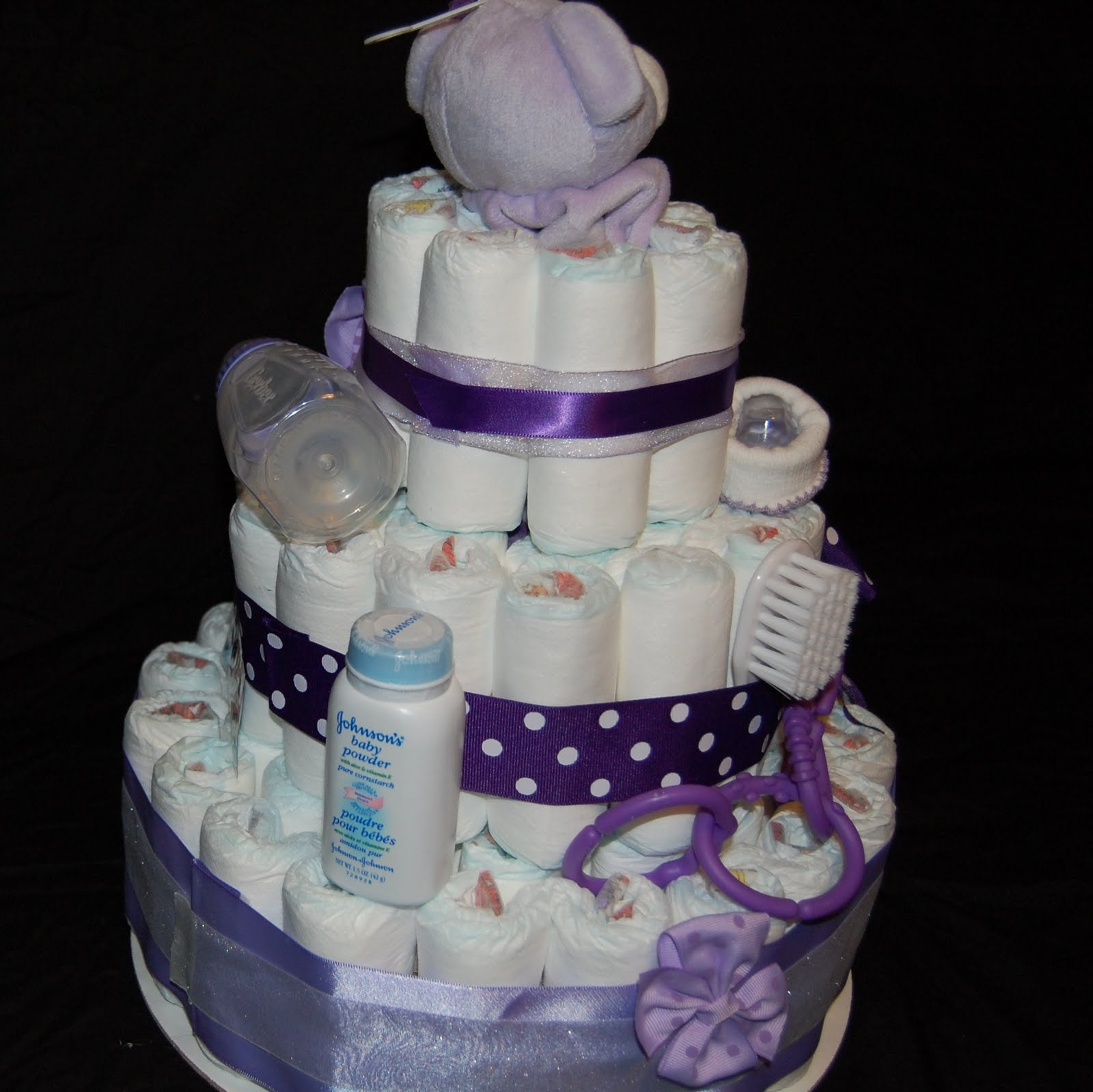 How To Make Baby Shower Diaper Cake: Crafting With Tammy: Diaper Cake