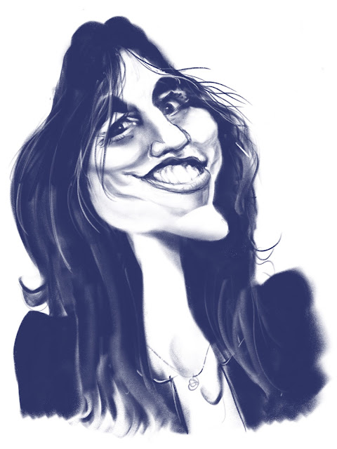Charlotte Gainsbourg caricature by Artmagenta
