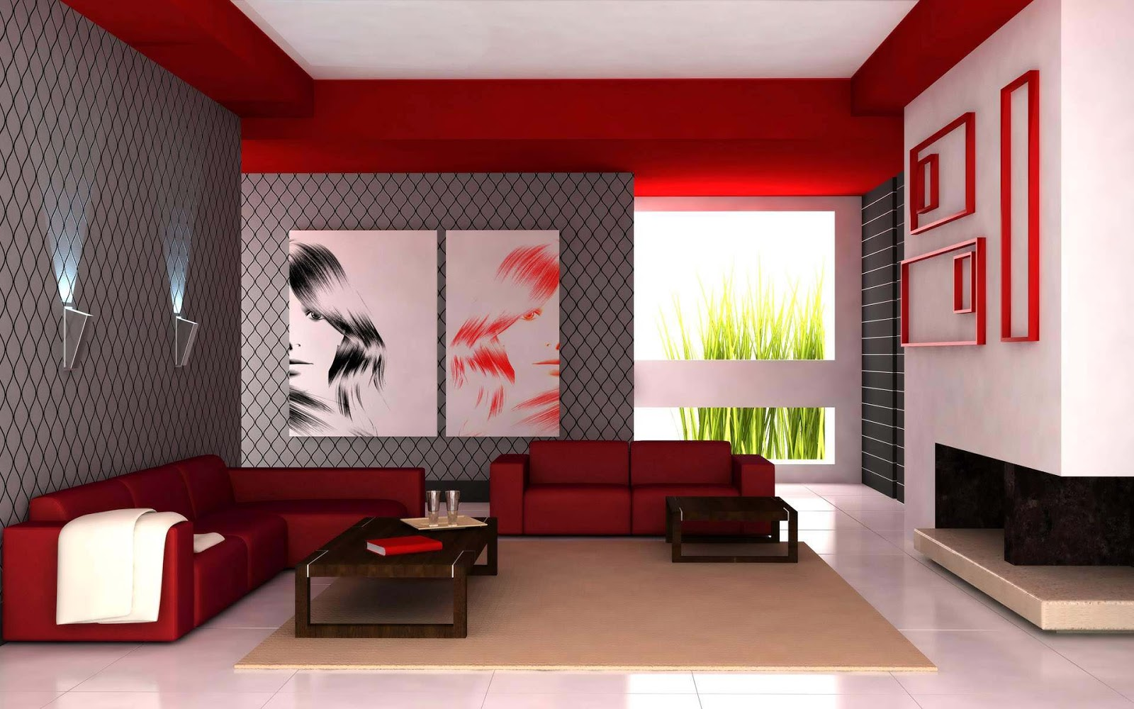 Modern guest room ideas living room interior designs for Modern interior design ideas living room