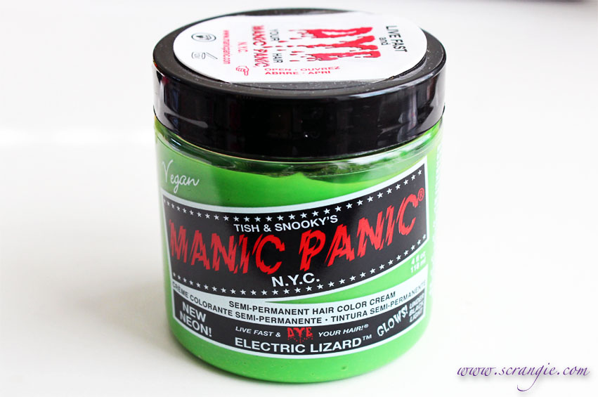 Scrangie Manic Panic Semi Permanent Hair Color Cream In Electric