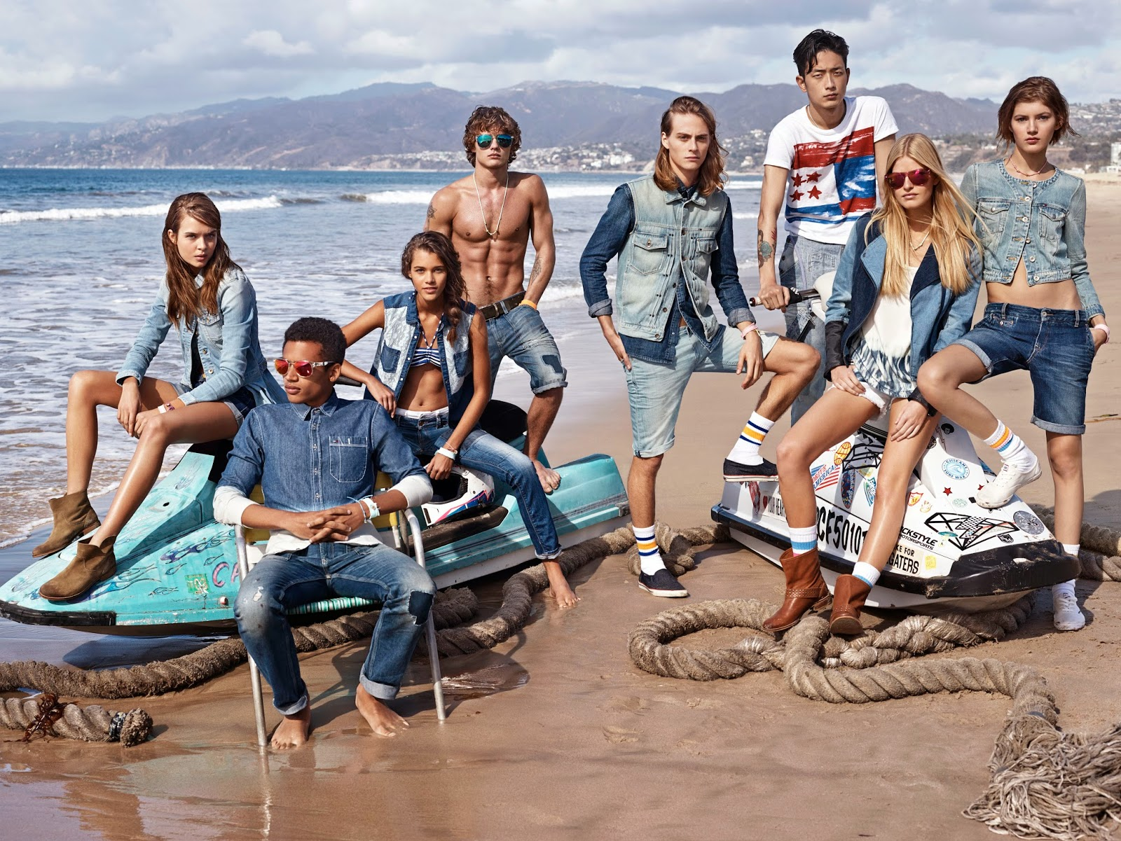 Tommy hilfiger, índigo, Denim, Hilfiger Denim, Spring 2014, spring summer, primavera verano, True to the Blue,