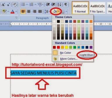 gambar Cara Merubah Warna Latar Teks di Micrososft Word