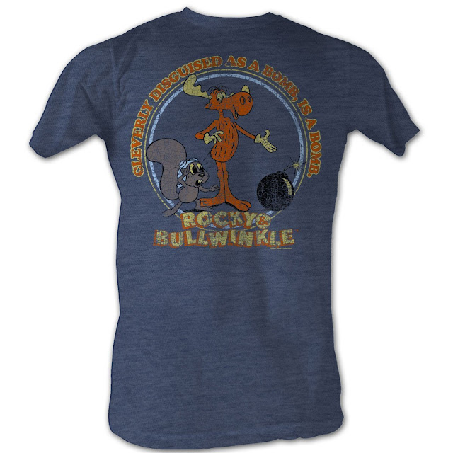funny rocky and bullwinkle shirt