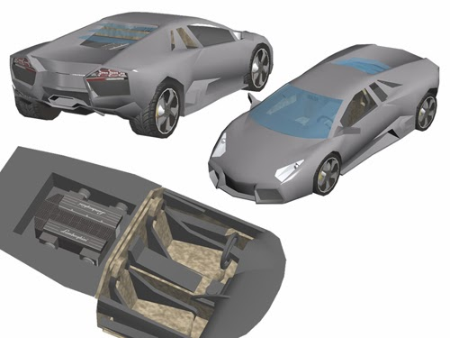 Lamborghini Reventon Papercraft