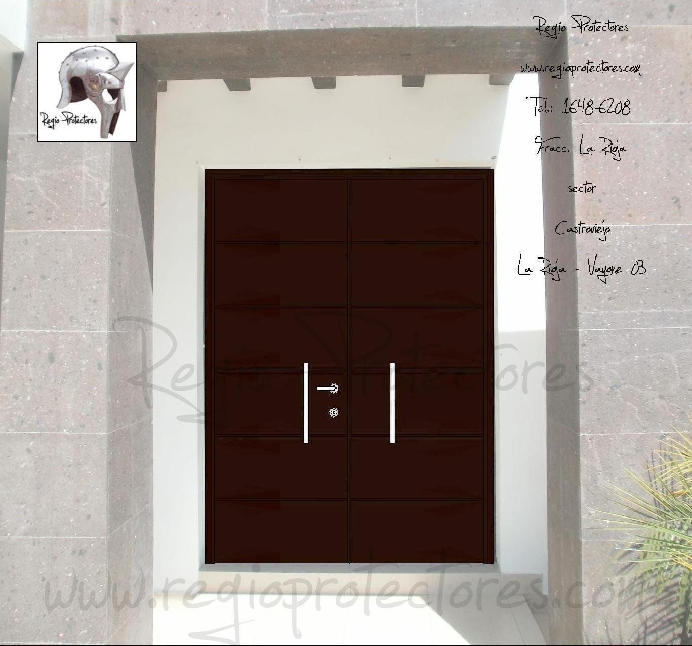 Regio protectores puerta principal contempor nea de dos - Puertas de dos hojas ...