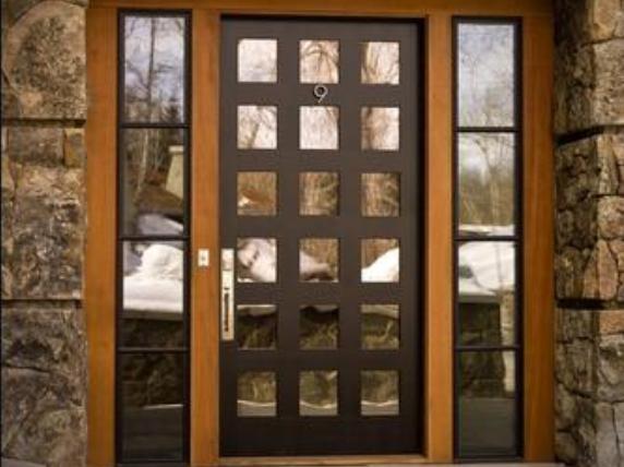 Fotos y dise os de ventanas diseno de puertas de herreria for Puertas de madera con herreria