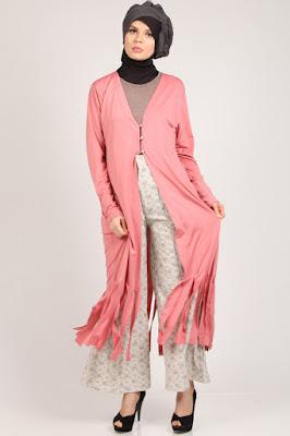 Model Long Cardigan Wanita Muslimah Terbaru 2016