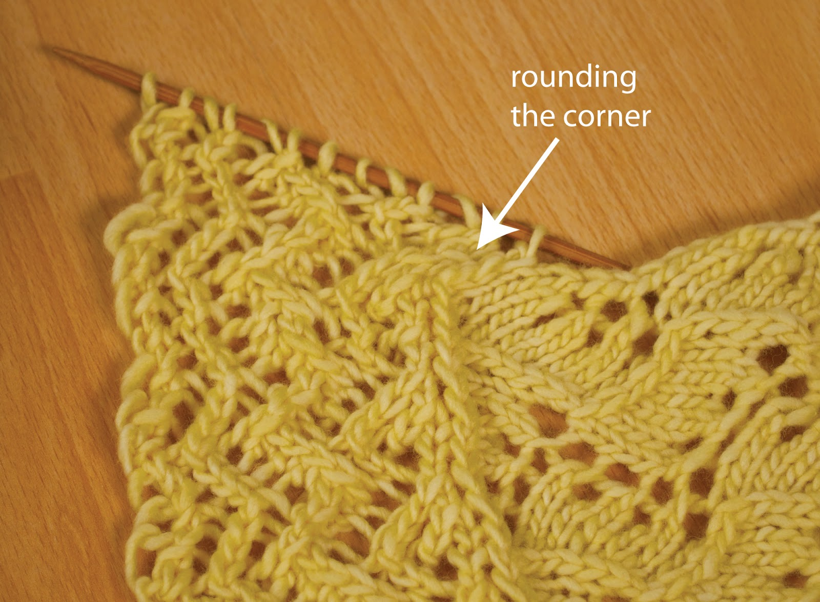 Knitting Picking Up Edge Stitches : Andreaknits attached lace edging tutorial part