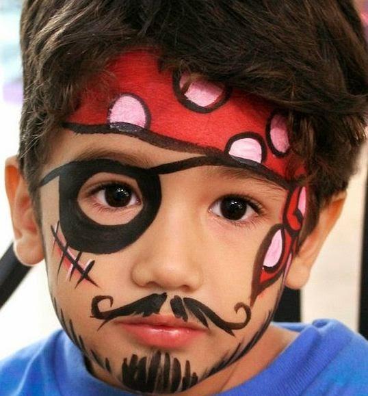 Bonitos modelos de caritas pintadas para ni os - Maquillaje pirata nina ...