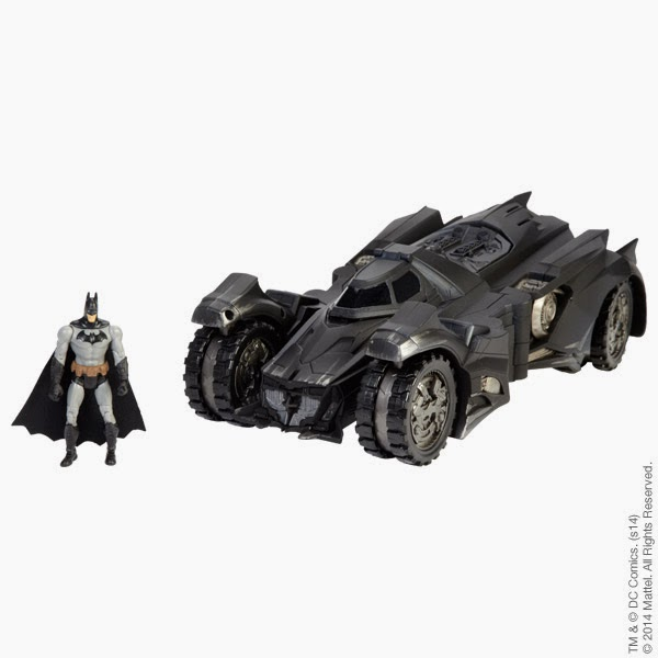San Diego Comic-Con 2014 Exclusive Batman: Arkham Knight Batmobile with DC Comics Multiverse Arkham City Batman Action Figure  by Mattel
