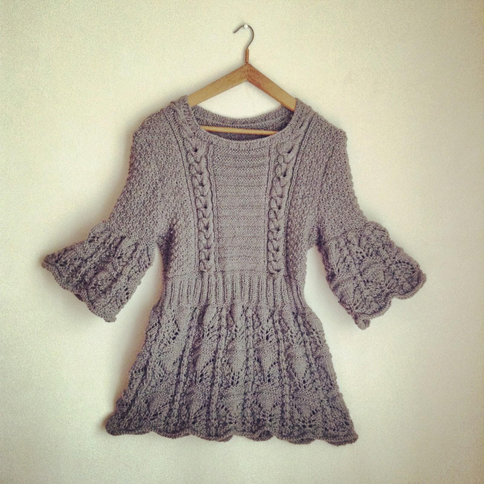 tricot tunique grise schachenmayr
