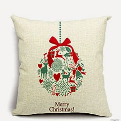 Merry Christmas Snow Small Bell Cotton Linen Throw Pillow Case