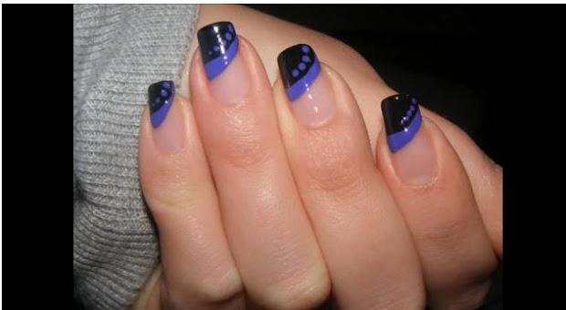 acrylic nails simple nail design