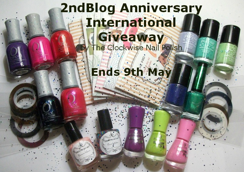 Amazing giveaway from The Clockwise Nail Polish