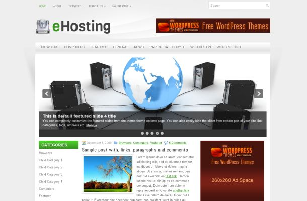 Free Wordpress WebHosting Business Theme Template