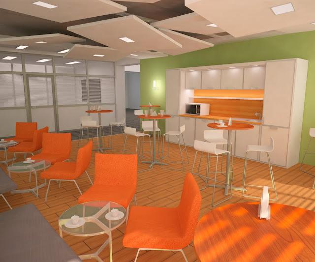 офисное кафе, столовая, дизайн столовой, кафе-зона