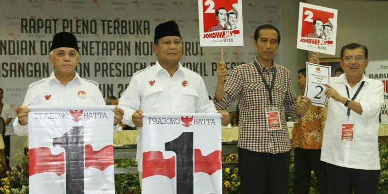 Prabowo-Hatta Nomor Urut Satu, Jokowi-JK Nomor Urut Dua