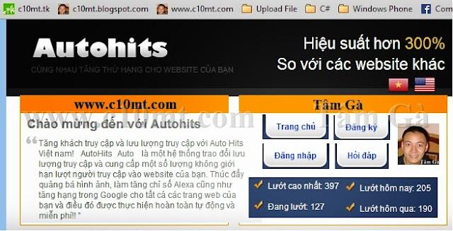 Tăng Traffic Website Auto với Autohits Urani Việt Nam